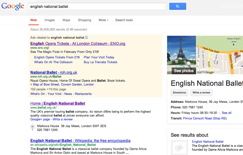 Google - English National Ballet