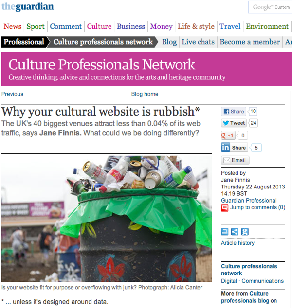 Why your cultural website is rubbish - The Guardian
