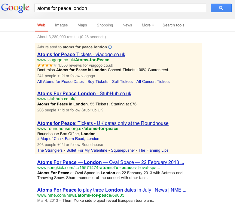 atoms for peace london - Google Search