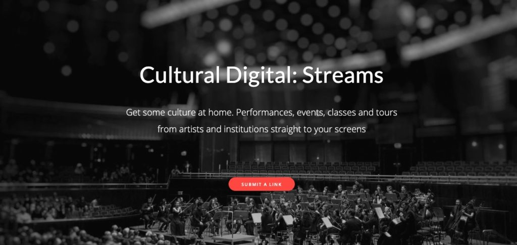 screenshot of cultural digital streams