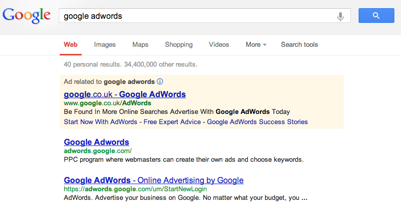 Google AdWords - Google Search